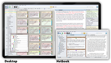 www.learn-scrivener-fast.com Scriever on Desktop & Netbook
